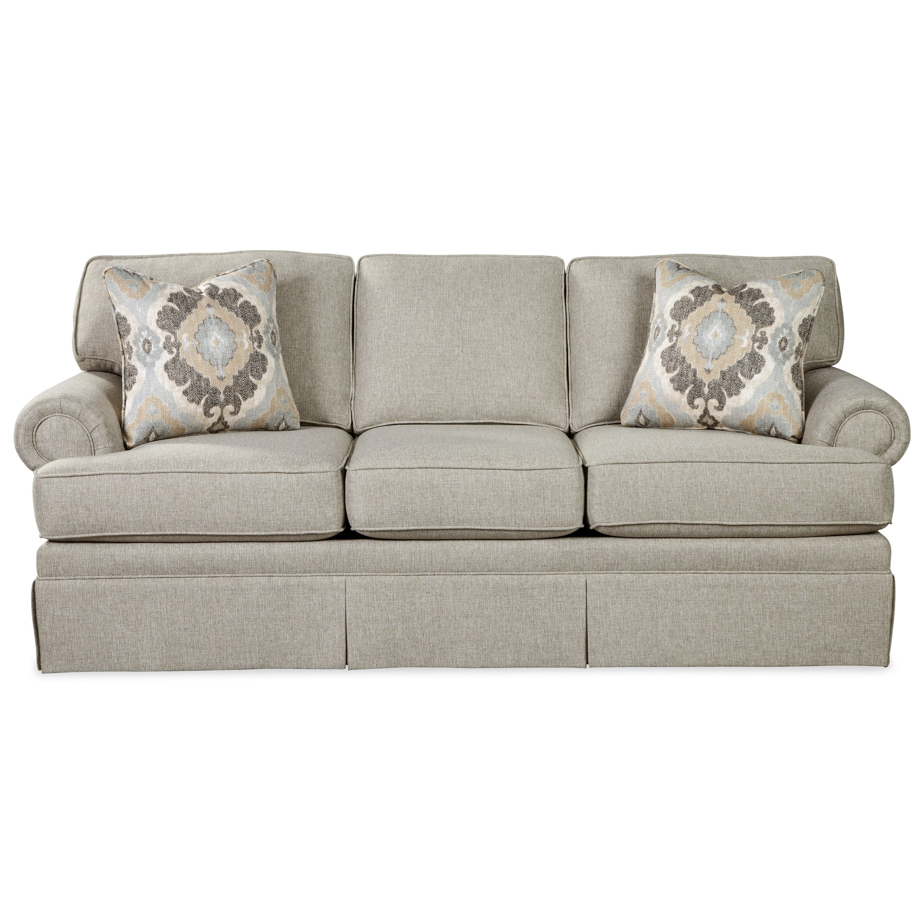 Sofa Foam Price In Delhi Craftmaster 981550 Traditional Skirted Sofa With Queen Sleeper