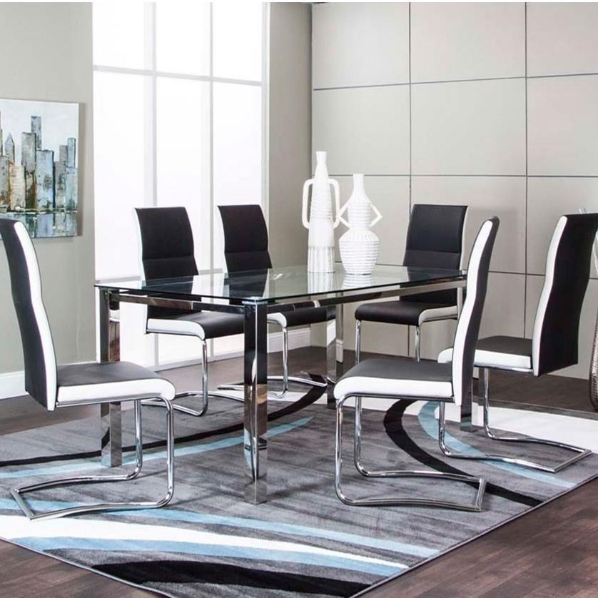 Glass Dining Table And Chairs Skyline Glass Top Table And Upholstered Side Chair Set By Cramco Inc At Value City Furniture