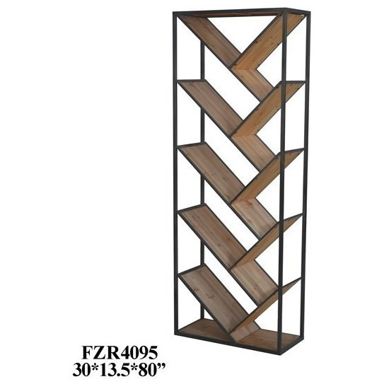 Etagere Metal Accent Furniture Seville Metal And Wood Angled Etagere By Crestview Collection At Sam Levitz Furniture