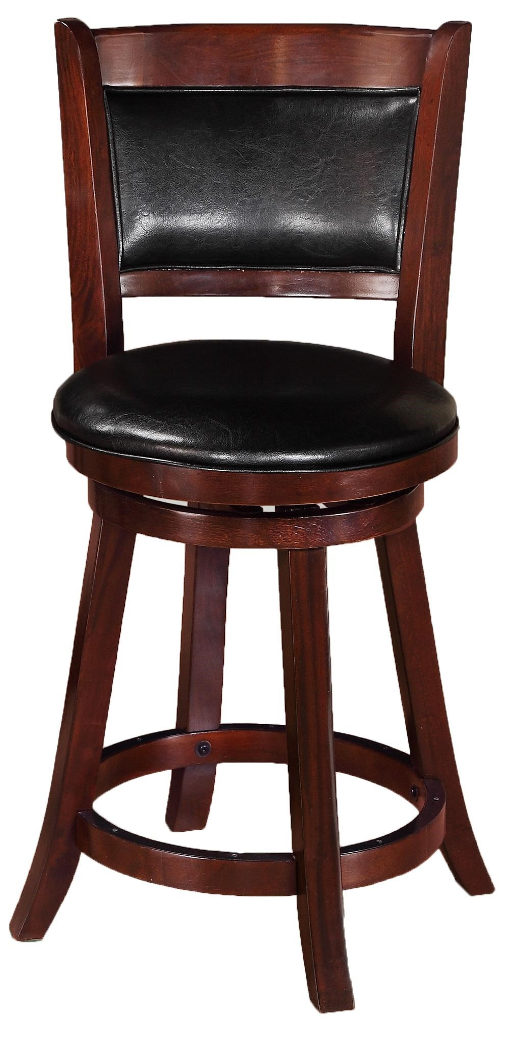Table And Bar Stools Bar Stools Transitional Upholstered Low Swivel Chair By Crown Mark At Dunk Bright Furniture