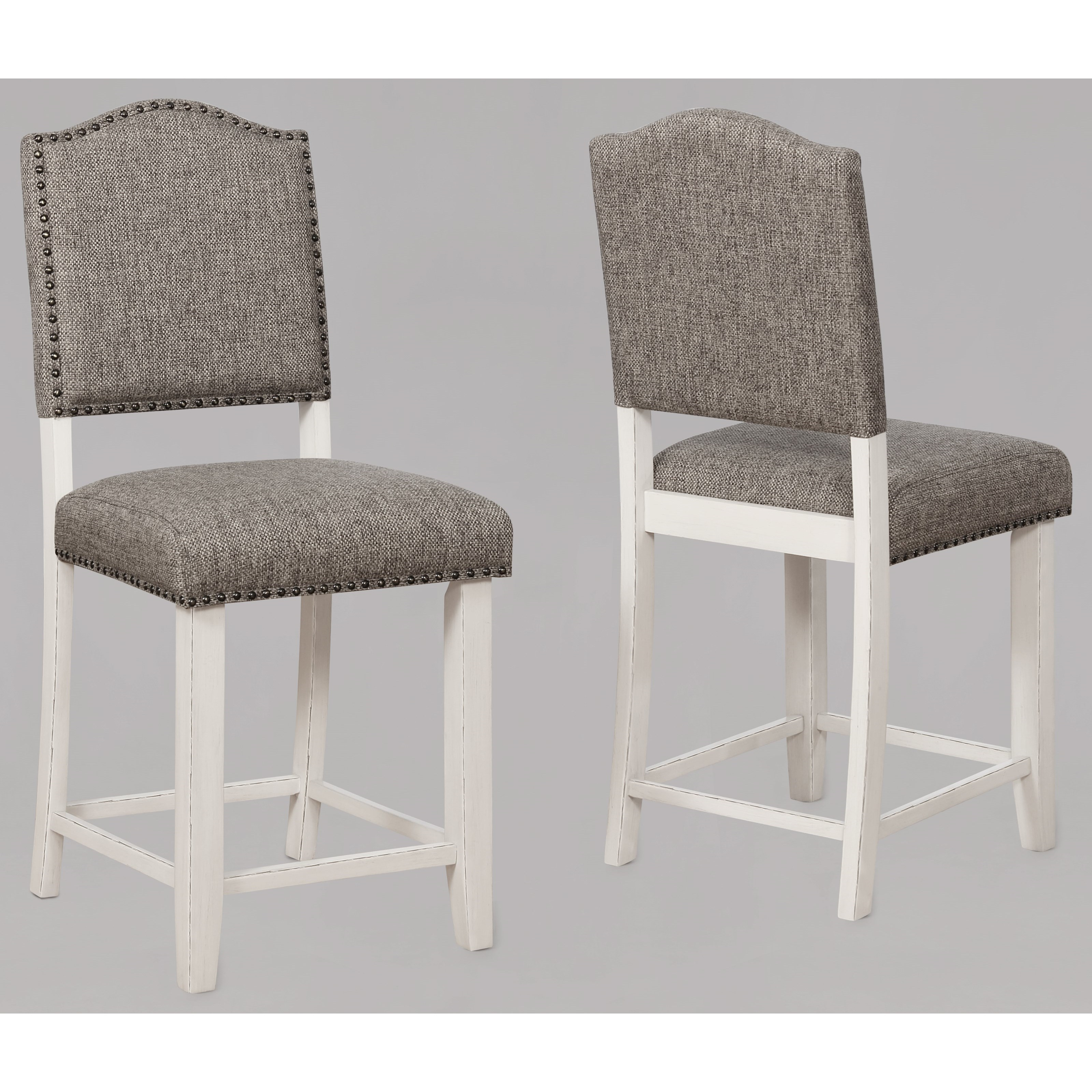 Fabric Counter Height Bar Stools Clover Upholstered Counter Height Chair With Nail Head Trim By Crown Mark At Household Furniture