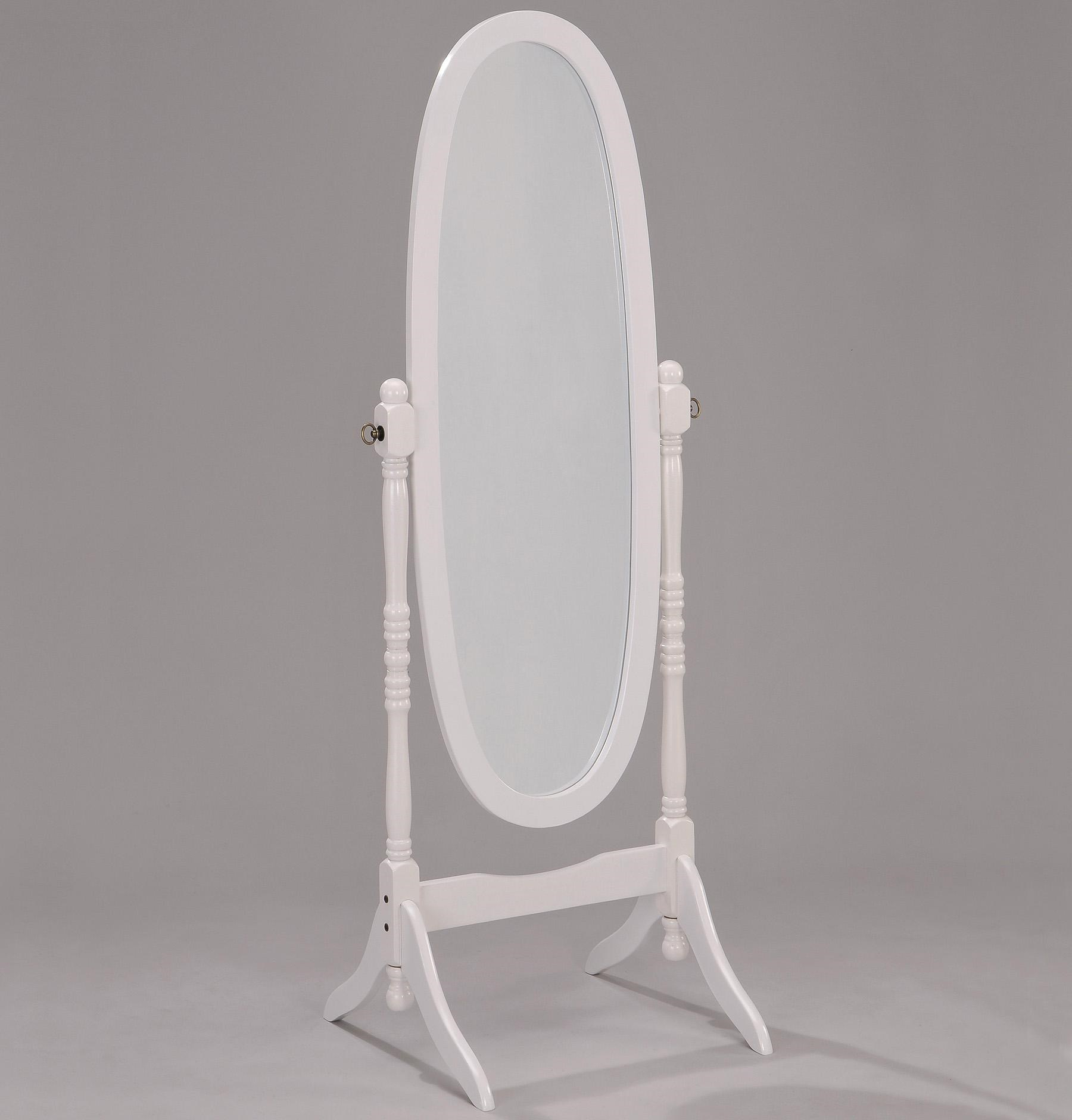 White Floor Mirror Miscellaneous White Finish Cheval Mirror By Crown Mark At Dunk Bright Furniture