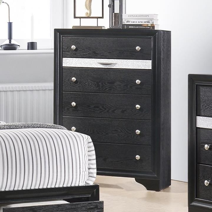 6 Drawer Chest Of Drawers Regata Contemporary 6 Drawer Chest With Jewelry Drawer By Crown Mark At Household Furniture