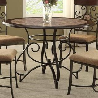 Breakfast Room Tables Sarah Casual Dining Table With Scoll Design By Crown Mark At Superstore