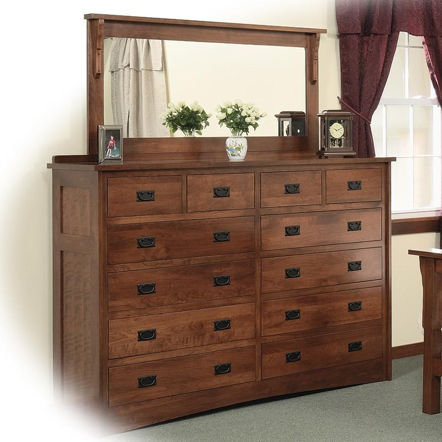 12 Drawer Chest Of Drawers Daniel S Amish Mission 12 Drawer Solid Wood Double Dresser With 58