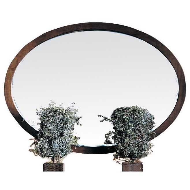 Oval Mirror Wood Frame Durham Soma Oval Mirror With Solid Wood Frame Jordan S