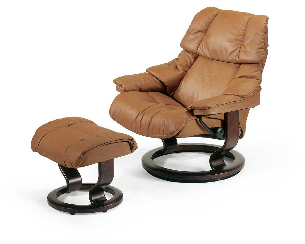 Stressless Ekornes Sessel Stressless Reno Large Reclining Chair Ottoman With Classic Base