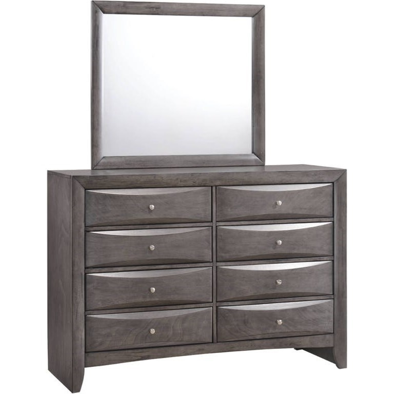 White 8 Drawer Dresser Emily 8 Drawer Dresser And Mirror By Elements International At Dunk Bright Furniture