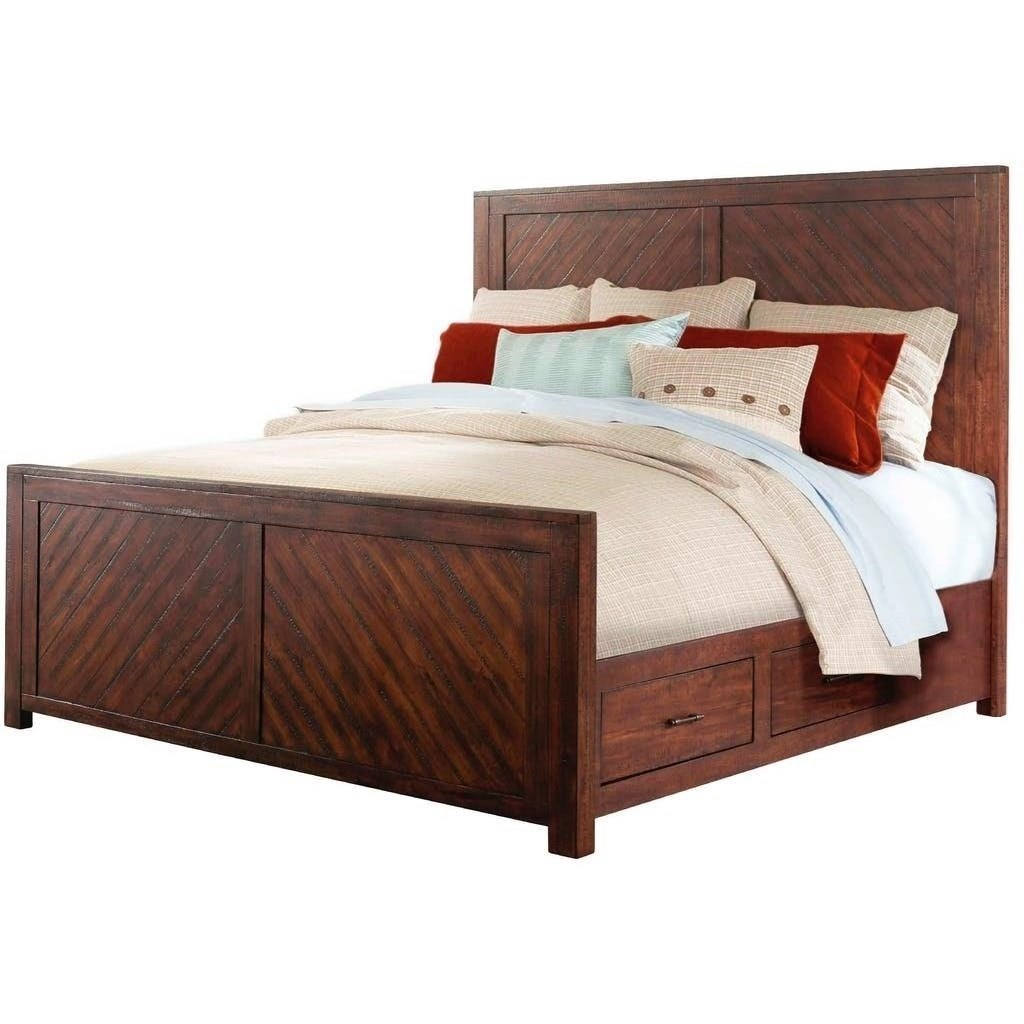 Bedding Storage Jax Rustic King Storage Bed By Elements International At John V Schultz Furniture