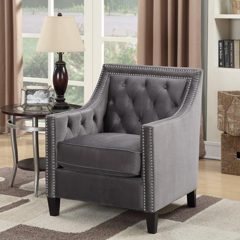 Beautiful Accent Chairs Tiffany Chair Accent Chair With Nailhead Trim By Elements International At Miskelly Furniture