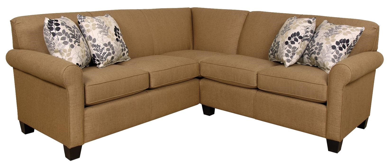 Sectional Corner Couch Angie Small Corner Sectional Sofa By England At Dunk Bright Furniture