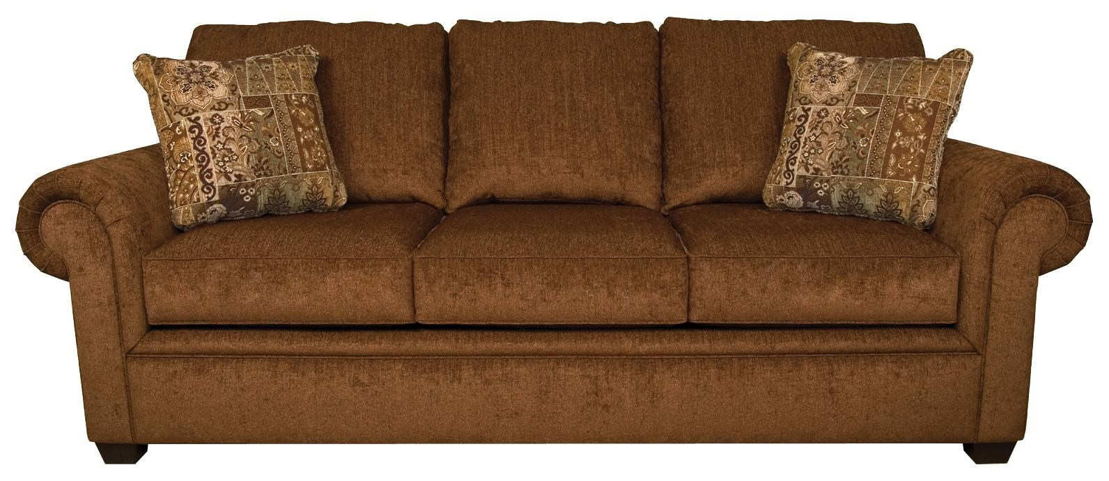 Sofa S Brett Rolled Arm Sofa With Exposed Block Legs By England At Coconis Furniture Mattress 1st