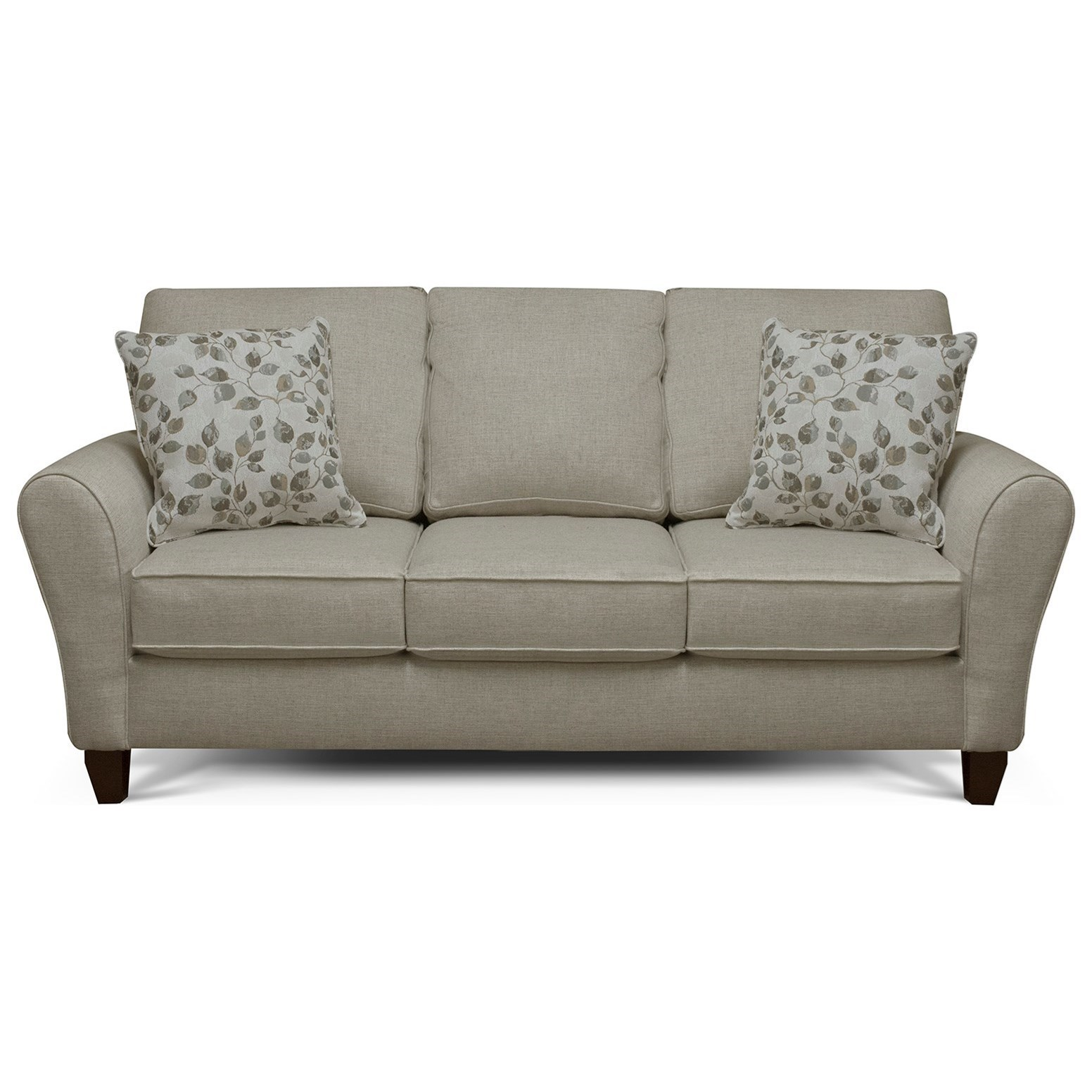 Sofa Outlet Paisley England Paxton 3b05 Transitional Flared Arm Sofa With Wooden Legs