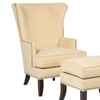 Grove Park Chairs Contemporary Wing Chair with Exposed ...