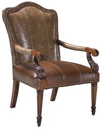 Fairfield Chairs Elegant Exposed Wood Occasional Chair ...