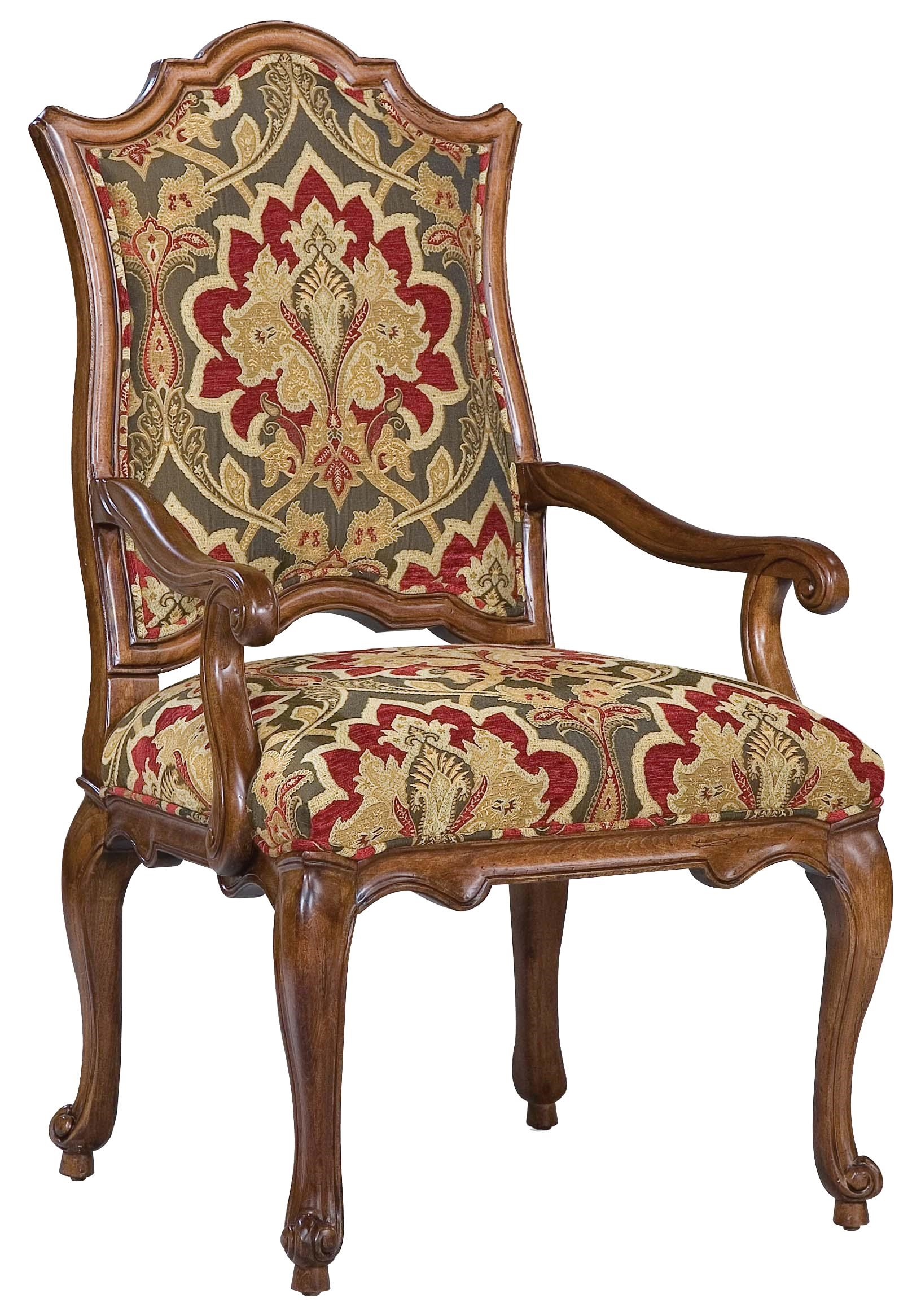 Accent Arm Chairs Chairs Victorian Accent Arm Chair With Curved Seat Back By Fairfield At Olinde S Furniture