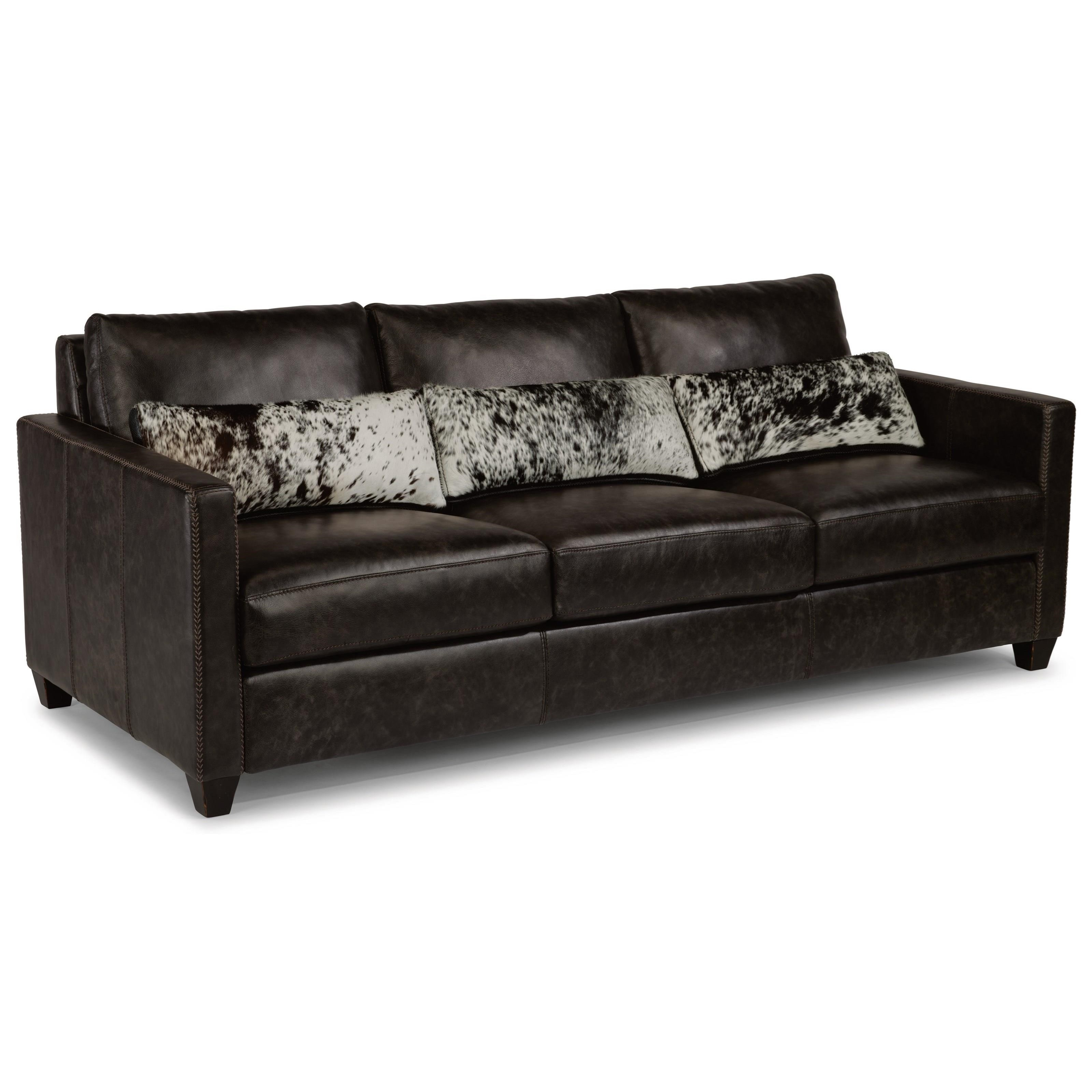 Urban Sofa Nederland Flexsteel Latitudes Roscoe Urban Rustic Sofa With Hair On Hide