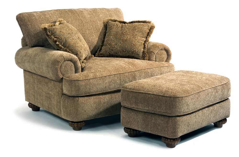 Chair Ottoman Patterson Traditional Chair Ottoman By Flexsteel At Dunk Bright Furniture