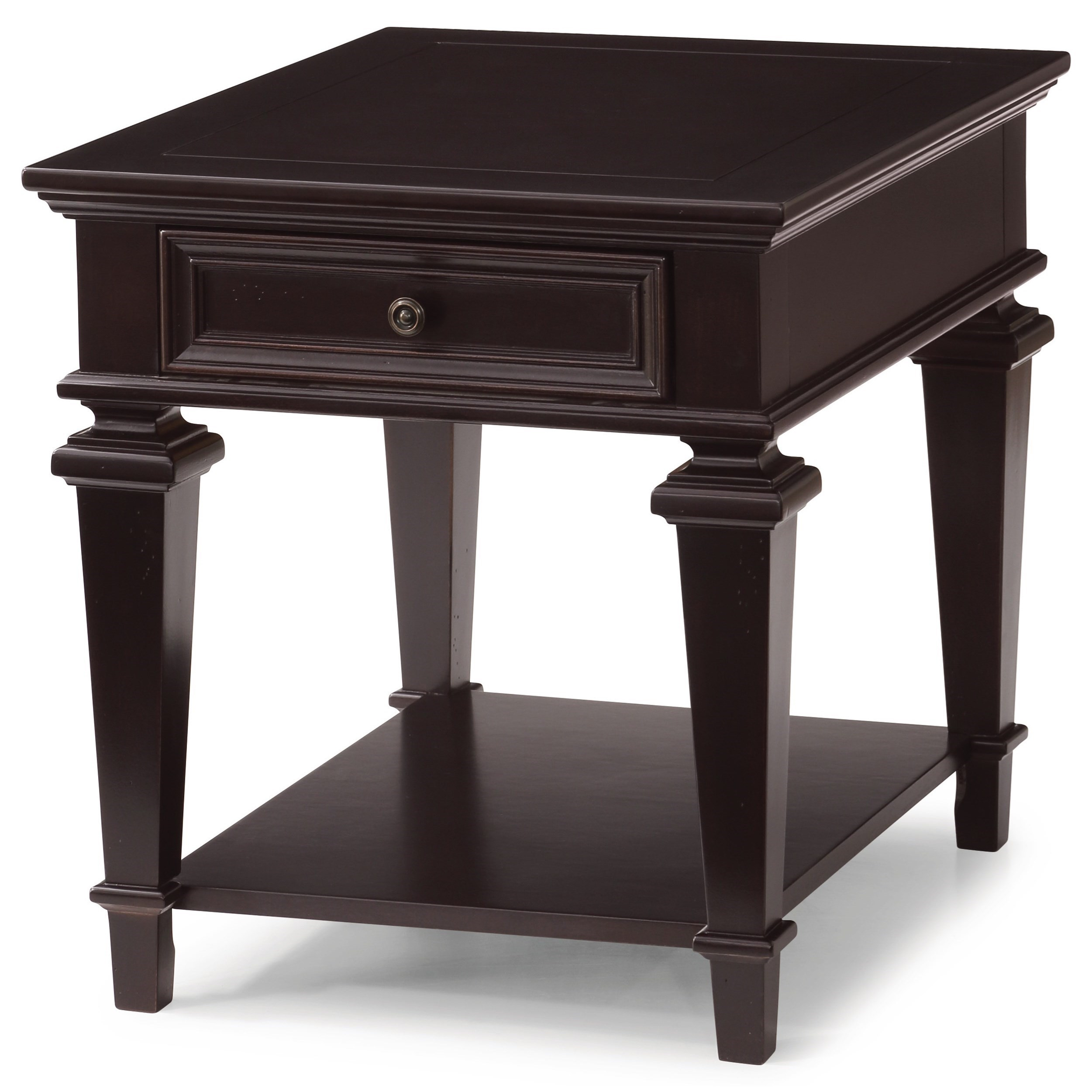 Settee End Table Flexsteel Wynwood Collection Camberly Traditional End Table With