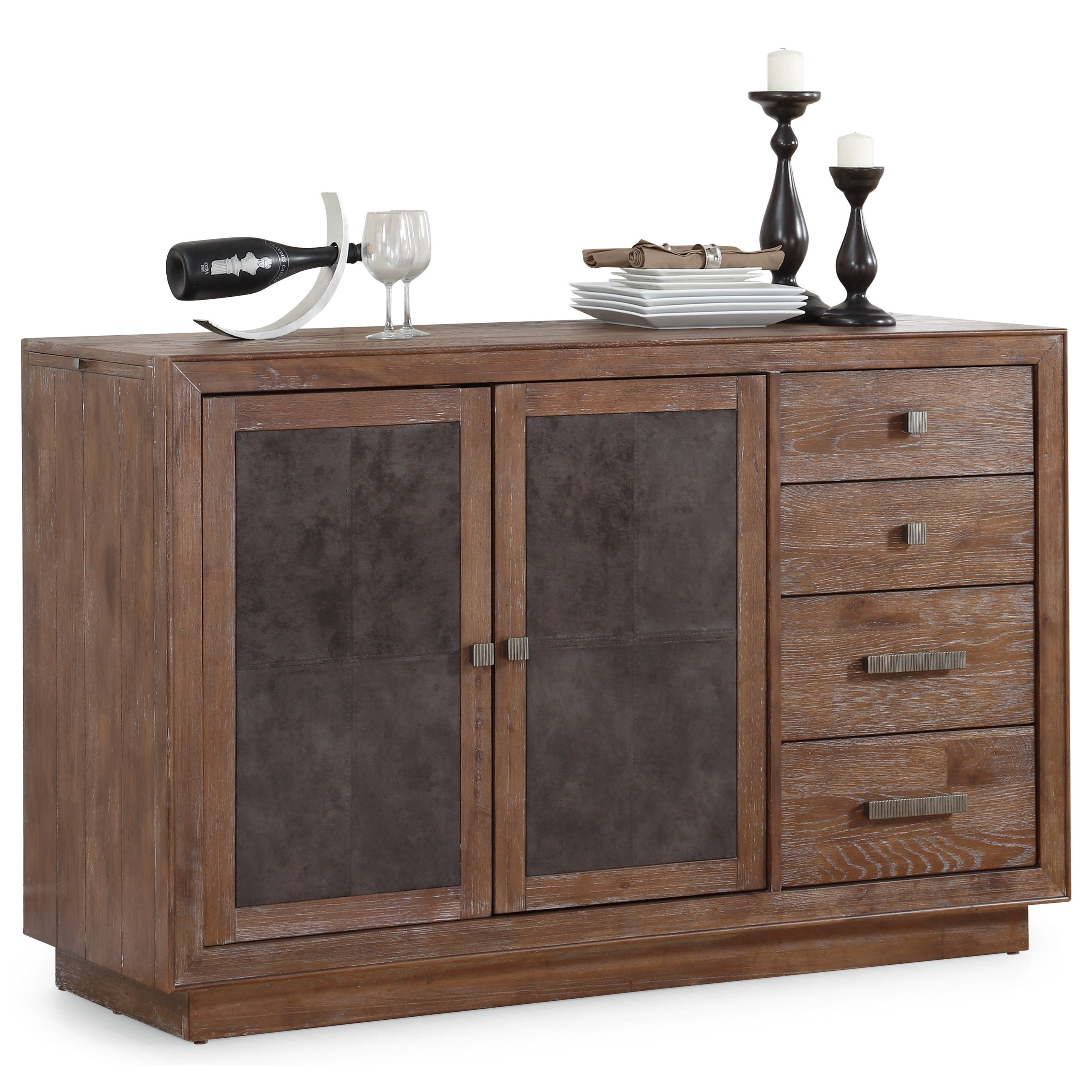 Buffet Sideboard With Wine Rack Flexsteel Wynwood Collection Hampton Dining Group W1148 827 Rustic
