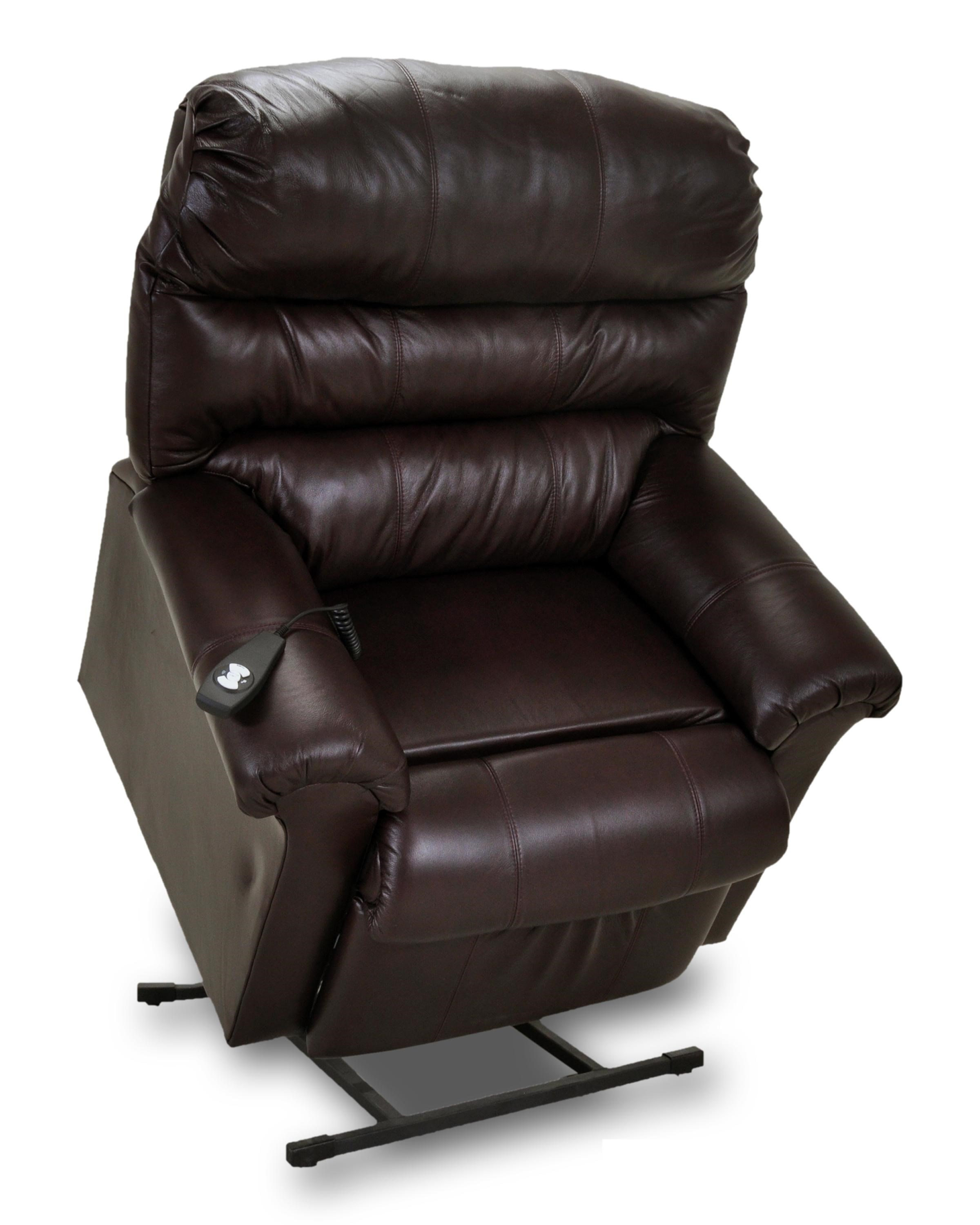 Electric Recliner Leather Chairs Lift And Power Recliners Power Recliner With Plush Pillow Arms By Franklin At Miskelly Furniture