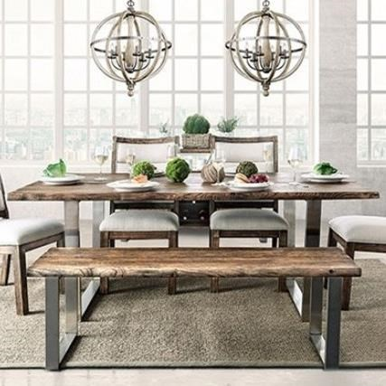 Dining Room Furniture Rustic Furniture Of America Mandy Cm3451a T Table Rustic Dining