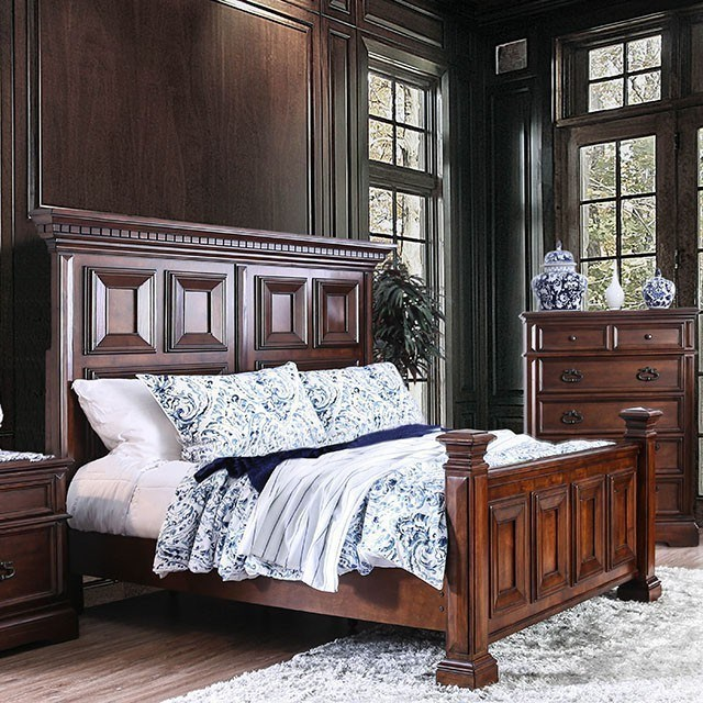 King Bed With Posts Millicent Traditional Panel Eastern King Bed With Footboard Posts By America At Del Sol Furniture