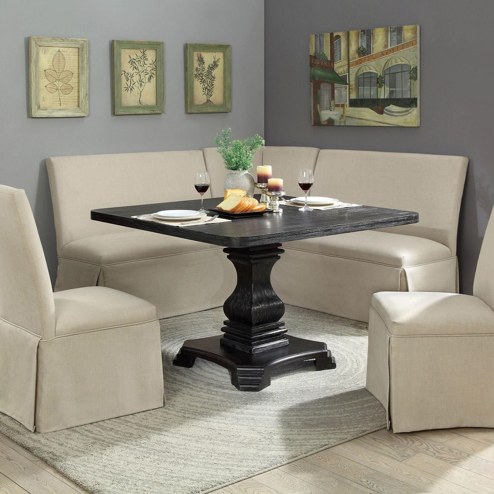 Breakfast Room Tables Nerissa Vintage Style Square Dining Table By Furniture Of America At Rooms For Less