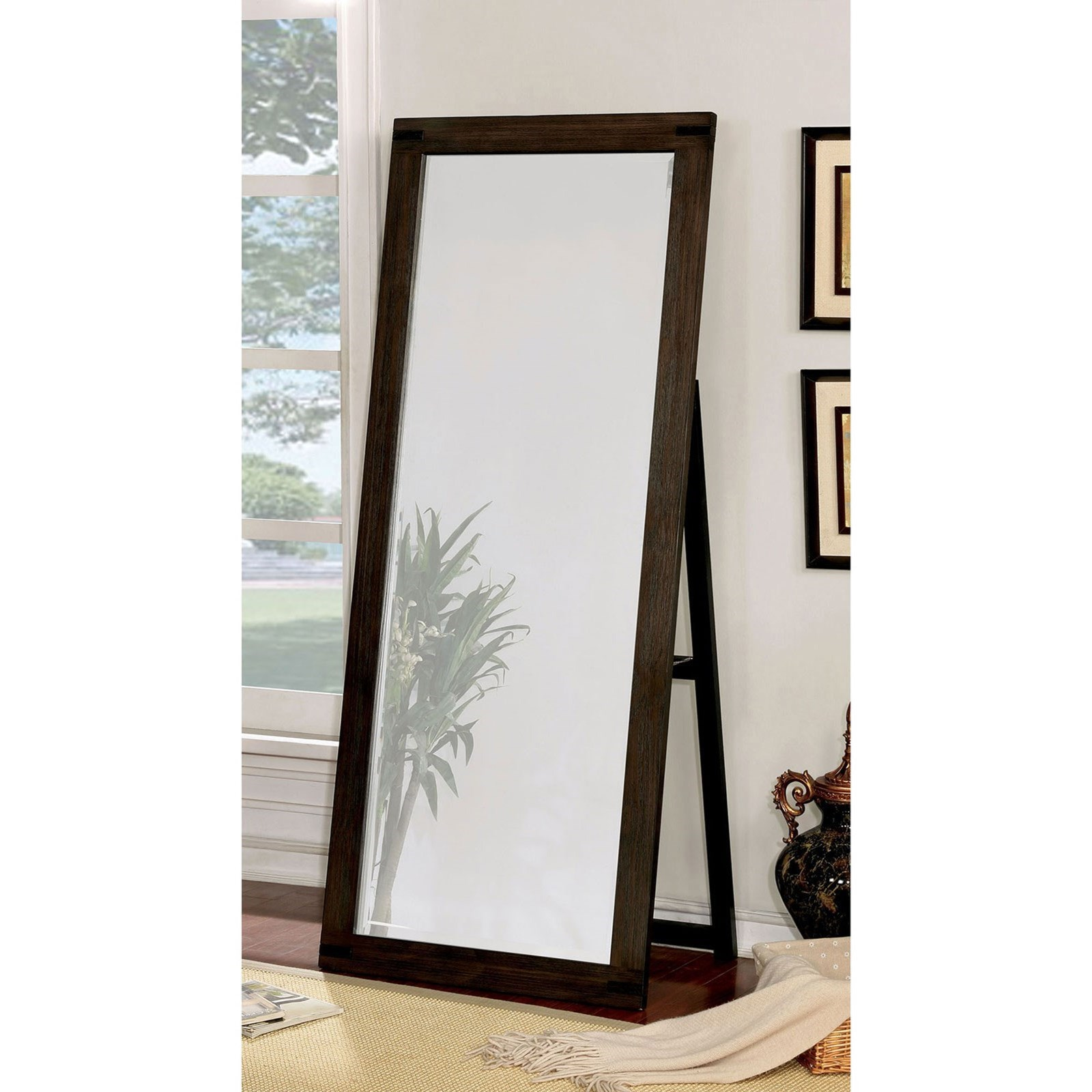 Standing Mirror Rexburg Transitional Standing Mirror By Furniture Of America At Rooms For Less