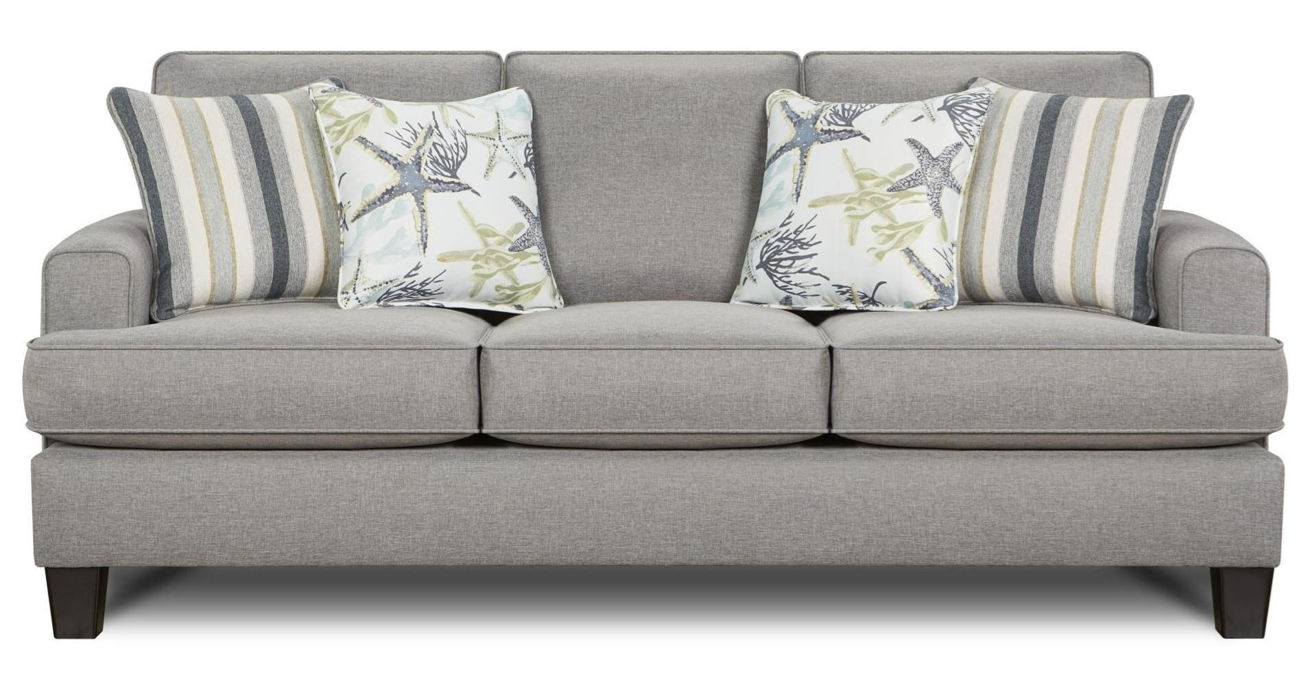 Sofa Foam Leeds 2600 Contemporary Sofa With Small Track Arms By Fusion Furniture At Standard Furniture