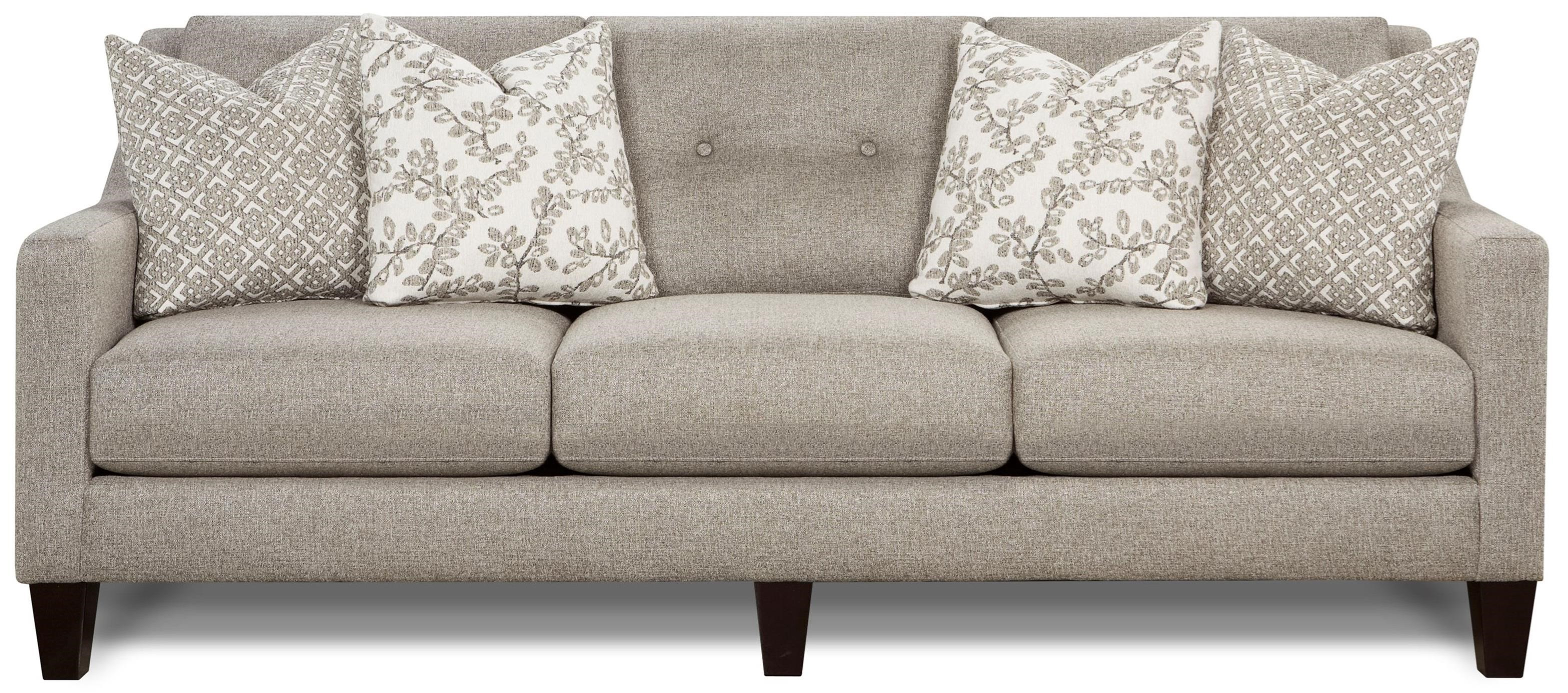 Fusion Furniture Evening Stone Contemporary Sofa With Track Arms Royal Furniture Sofas