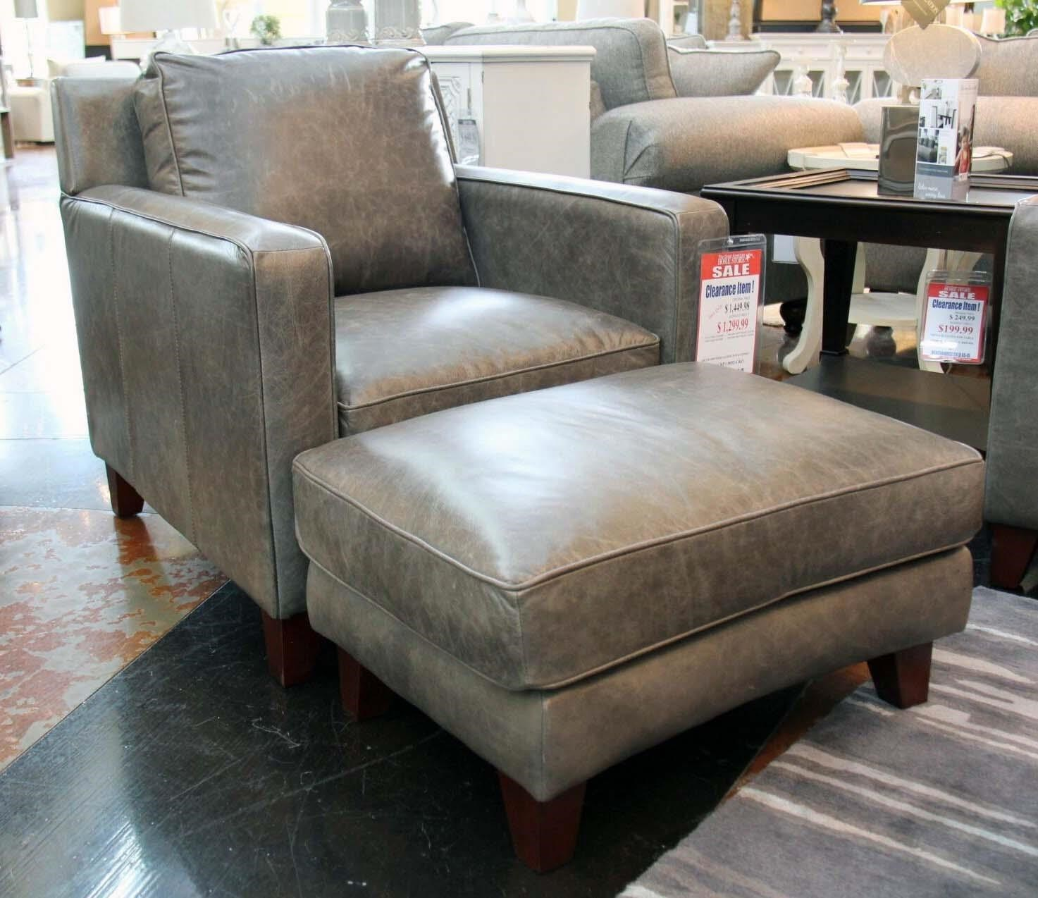 Leather Chairs And Ottomans Sale Abilene Contemporary Leather Chair Ottoman By Futura Leather At Great American Home Store