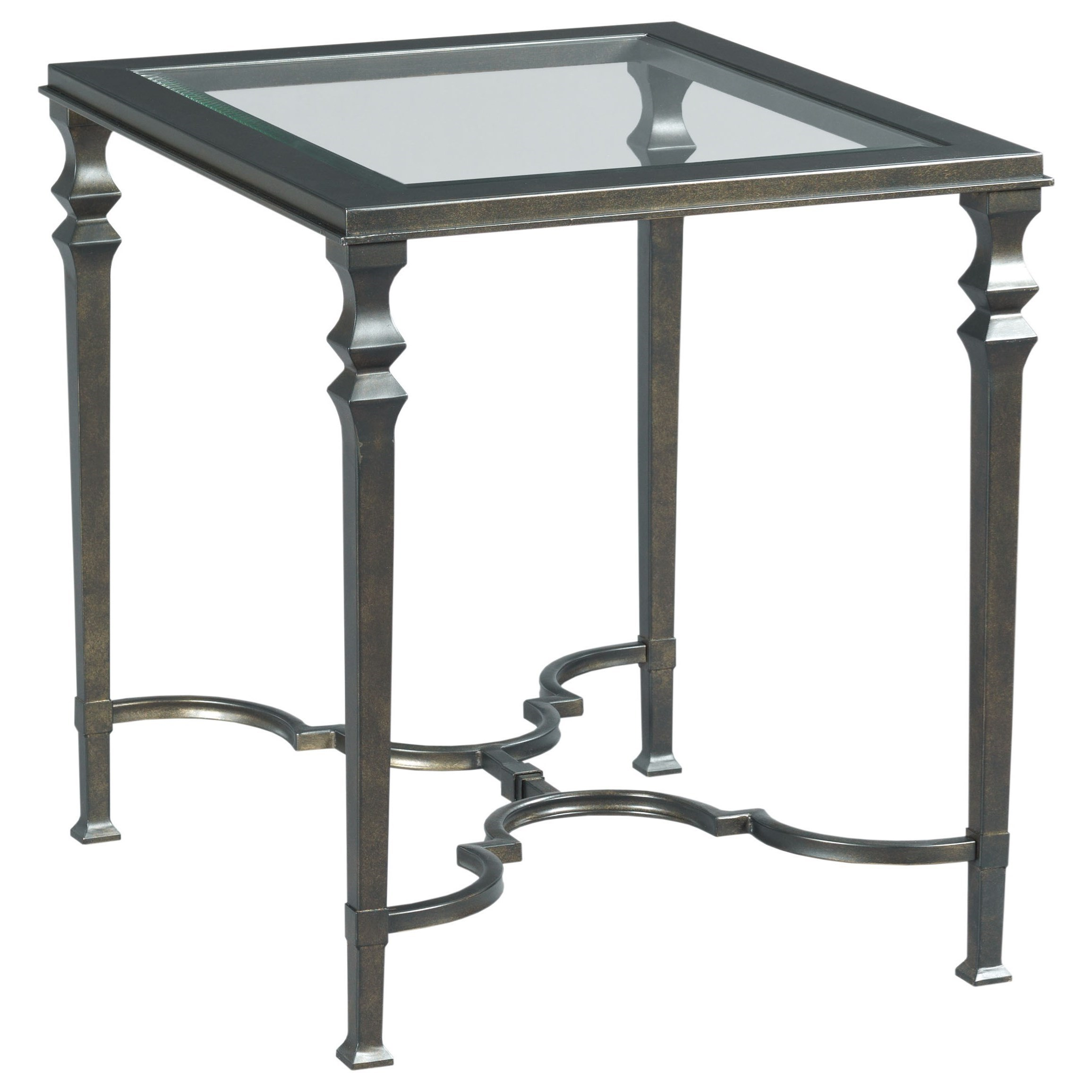 Metal Glass End Tables Hammary Paragon 840 915 Metal Rectangular End Table With Glass Top
