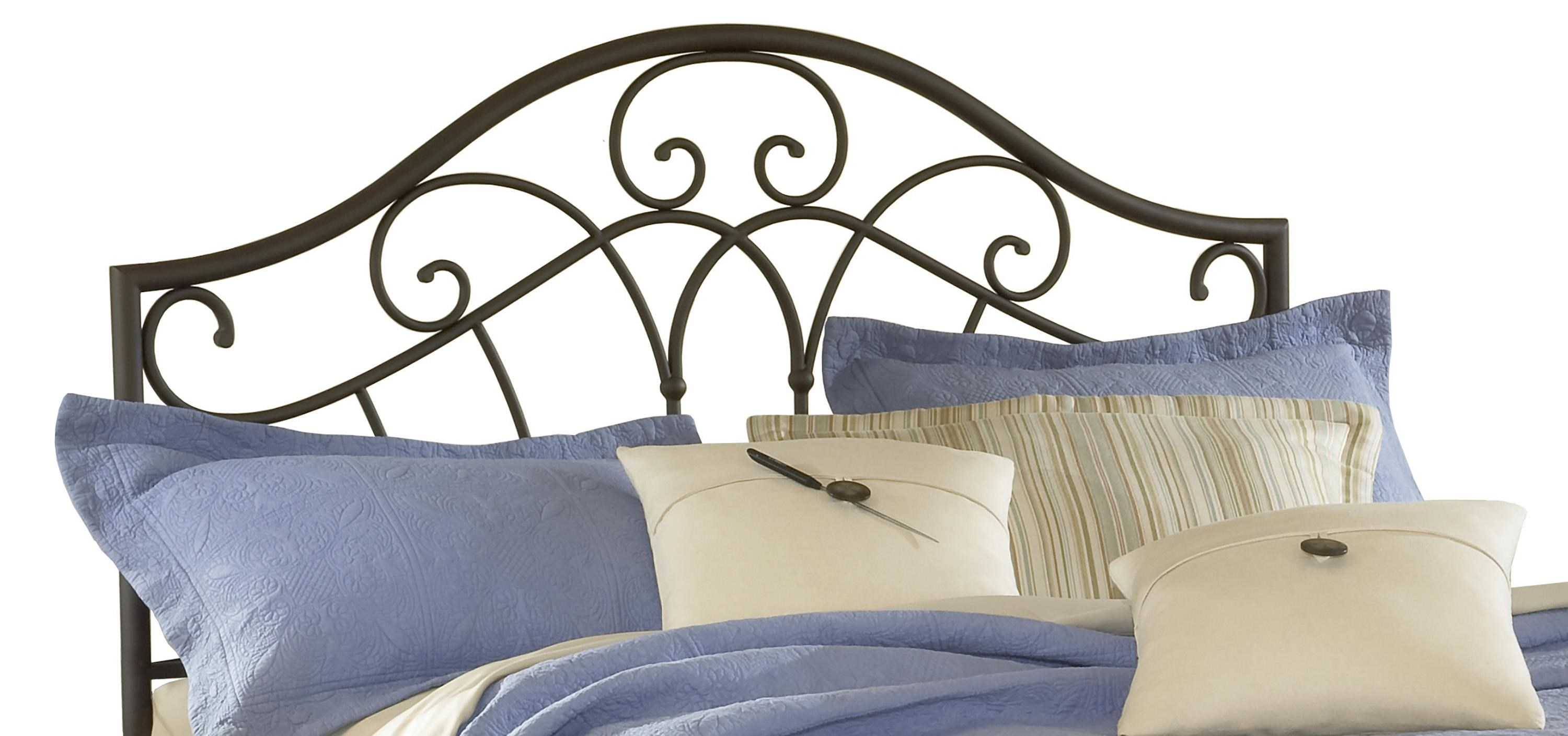 Metal Bed Headboards Metal Beds Josephine Full Queen Headboard With Romantic Design By Hillsdale At Prime Brothers Furniture