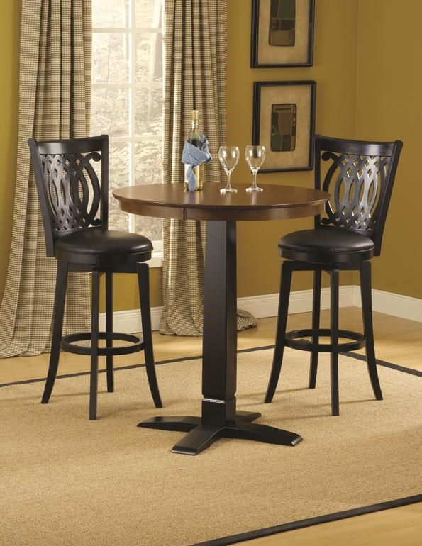 Table And Bar Stools Dynamic Designs Bar Height Bistro Table And Swivel Chairs By Hillsdale At Lindy S Furniture Company