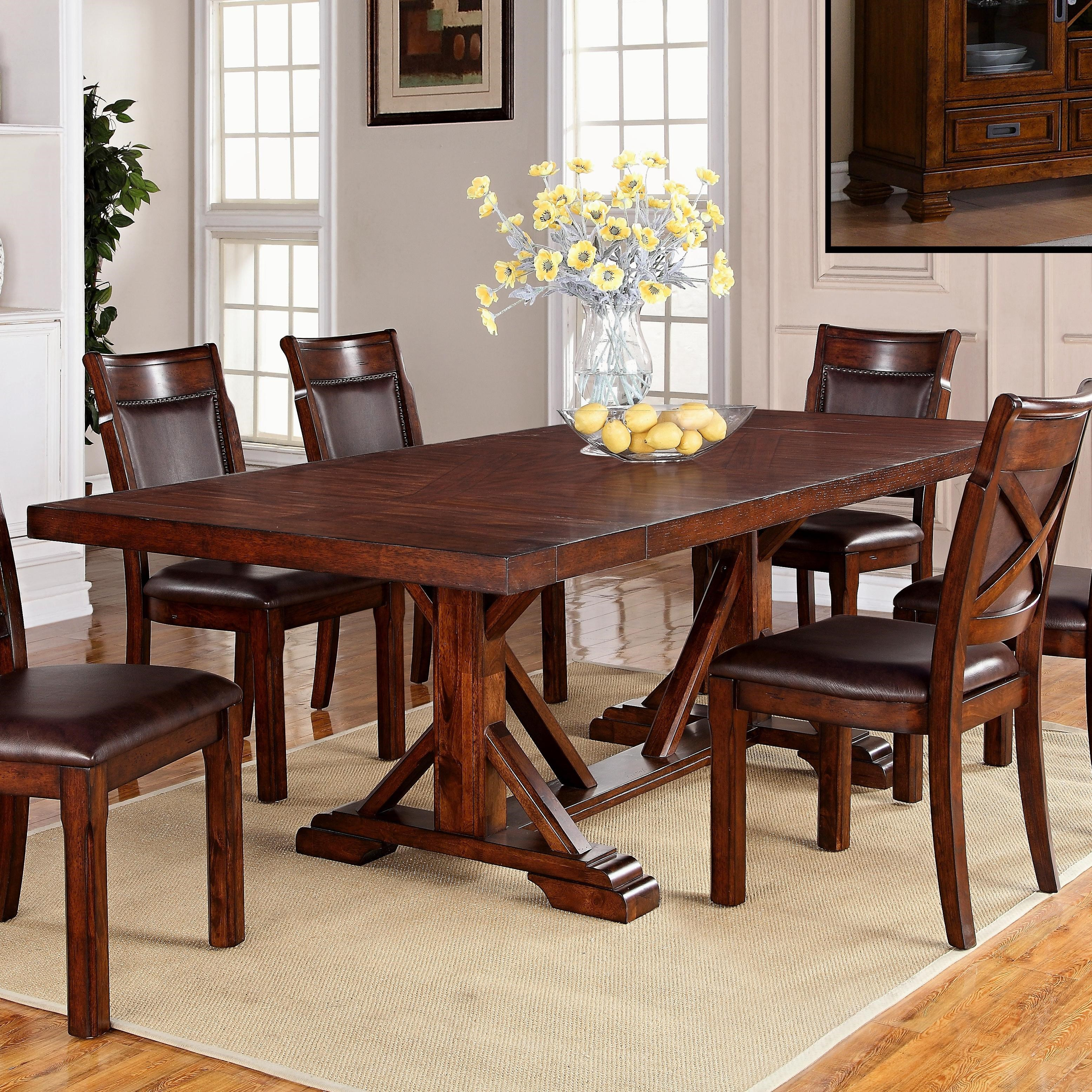 Warehouse Table Adirondack Trestle Dining Table With Two Leaves By Warehouse M At Pilgrim Furniture City