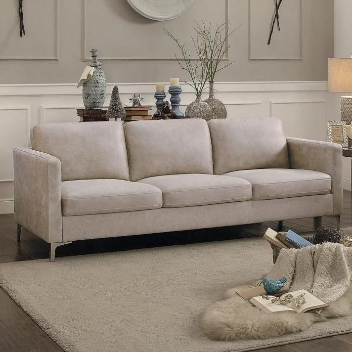 Sofa Legs Ss Breaux Contemporary Sofa With Metal Legs By Homelegance At Simply Home By Lindy S