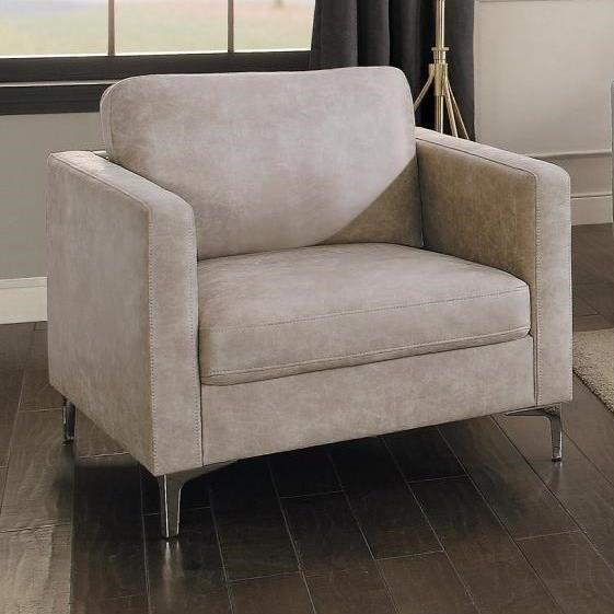 Sofa Legs Ss Homelegance Breaux 825ss 1 Contemporary Upholstered Chair With