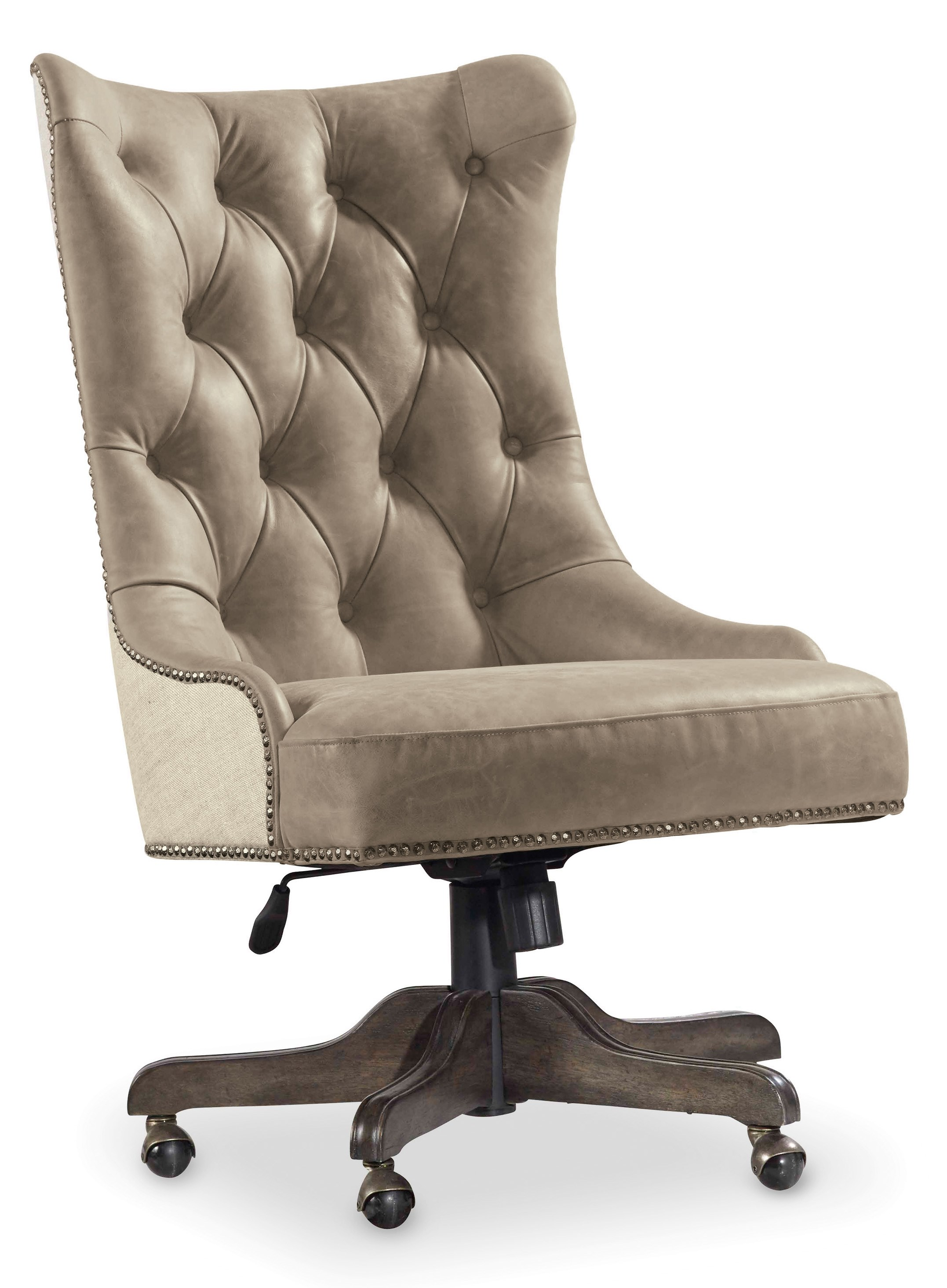 Grey Desk Chair Vintage West Executive Desk Chair With Tufted Back By Hooker Furniture At Belfort Furniture