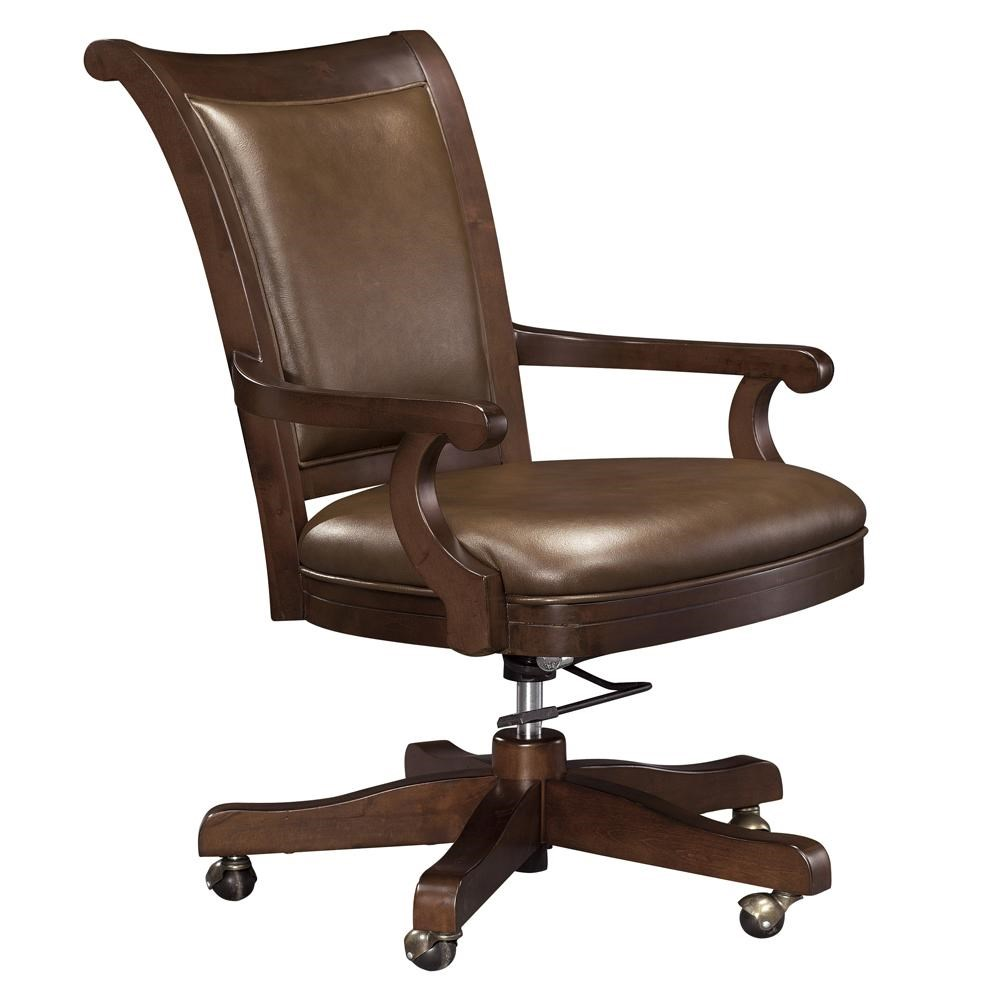 Desk Seat Ithaca Upholstered Office Chair With Casters By Howard Miller At Rotmans
