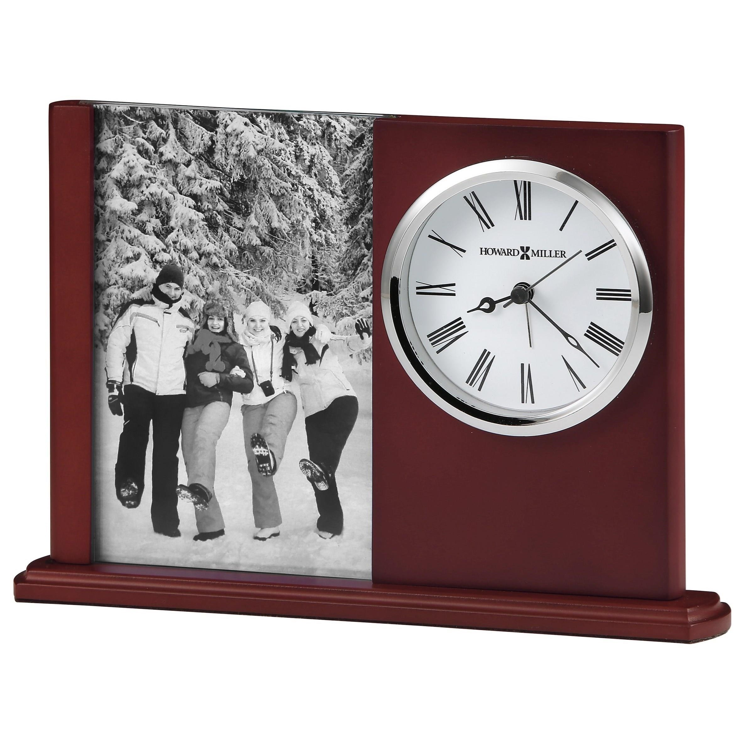 Special Clock Table Mantel Clocks Portrait Caddy Ii Table Clock With Picture Frame By Howard Miller At Rotmans