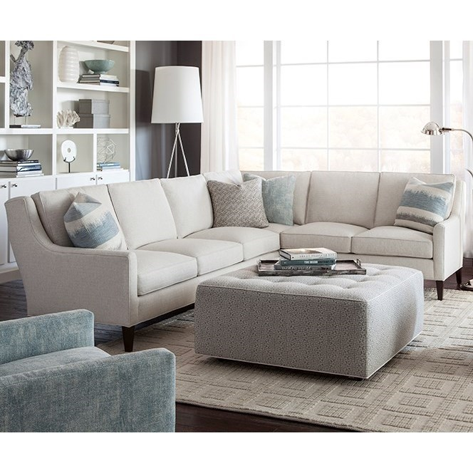 Hunington Furniture Huntington House 2200 Contemporary Sectional Sofa With Track Arms