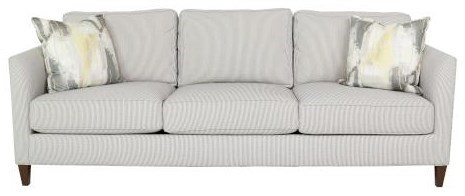 Rosa Sofa Rosa 3 Cushion Sofa With Track Arms And Exposed Wooden Legs By Geoffrey Alexander At Sprintz Furniture