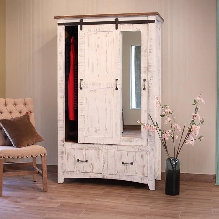 Armoire Habits International Furniture Direct Pueblo Armoire With Sliding Door