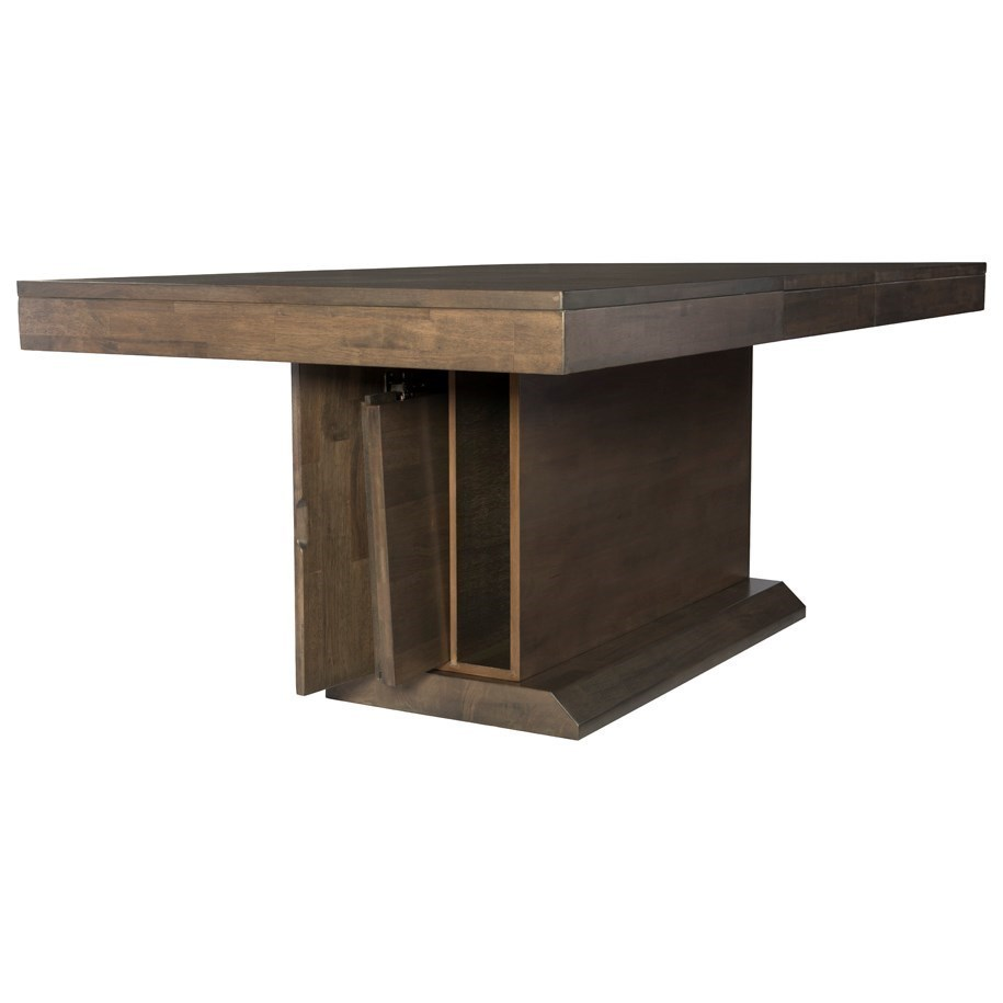 Table Luxe John Thomas Luxe Contemporary Dining Table With Leaf And Leaf
