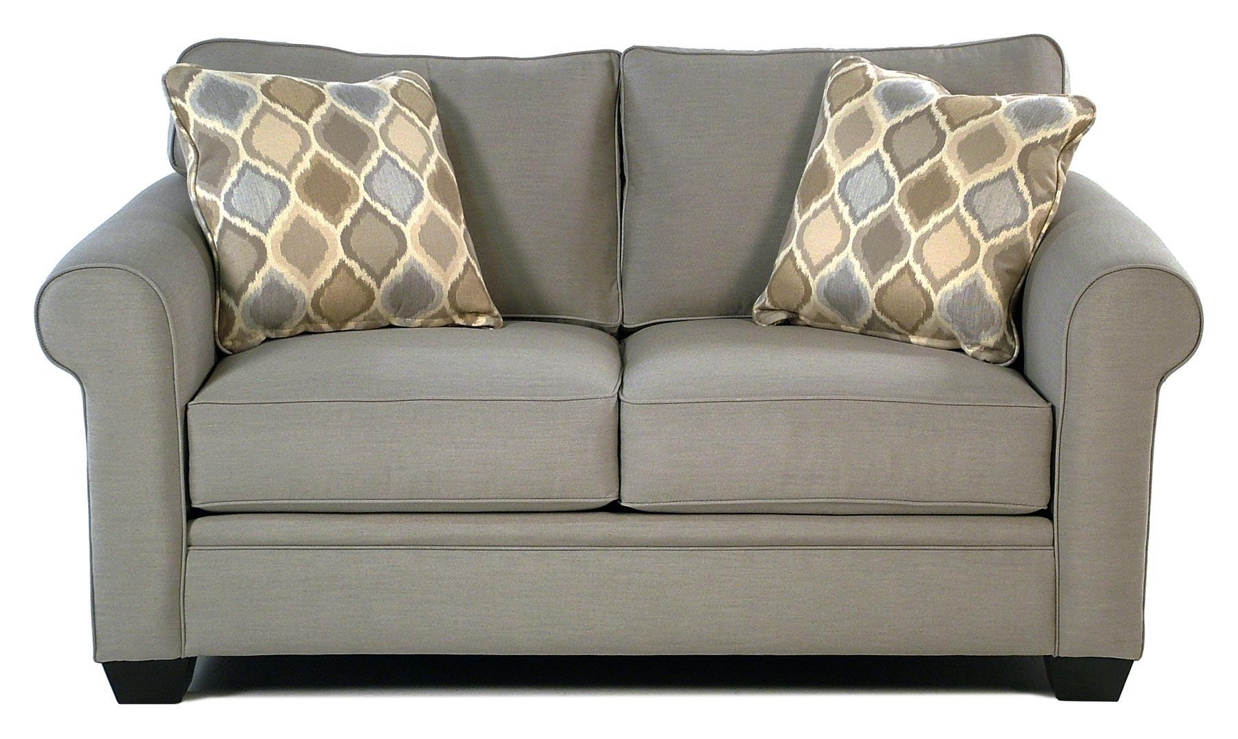 Sofa Fabric Mackenzie Roll Arm Loveseat W Sunbrella Fabric By Jonathan Louis At Rotmans