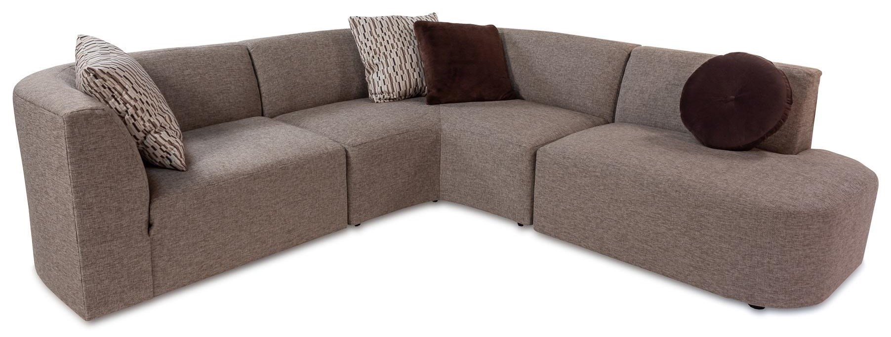 Sofa Modern Techno Modern 3 Piece Sectional Sofa With Bumper Chaise By Jonathan Louis At Rotmans