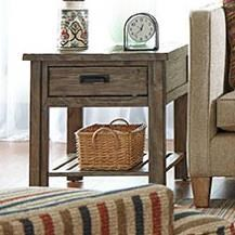 Rustic Wood End Table Foundry Rustic Weathered Gray End Table With Drawer By Kincaid Furniture At Howell Furniture