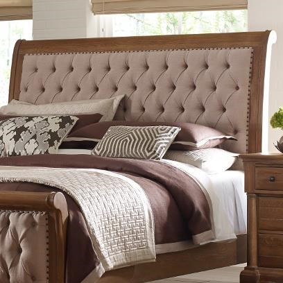 Bed Headboard Stone Ridge King Size Upholstered Sleigh Headboard With Button Tufting And Nailhead Trim By Kincaid Furniture At Olinde S Furniture