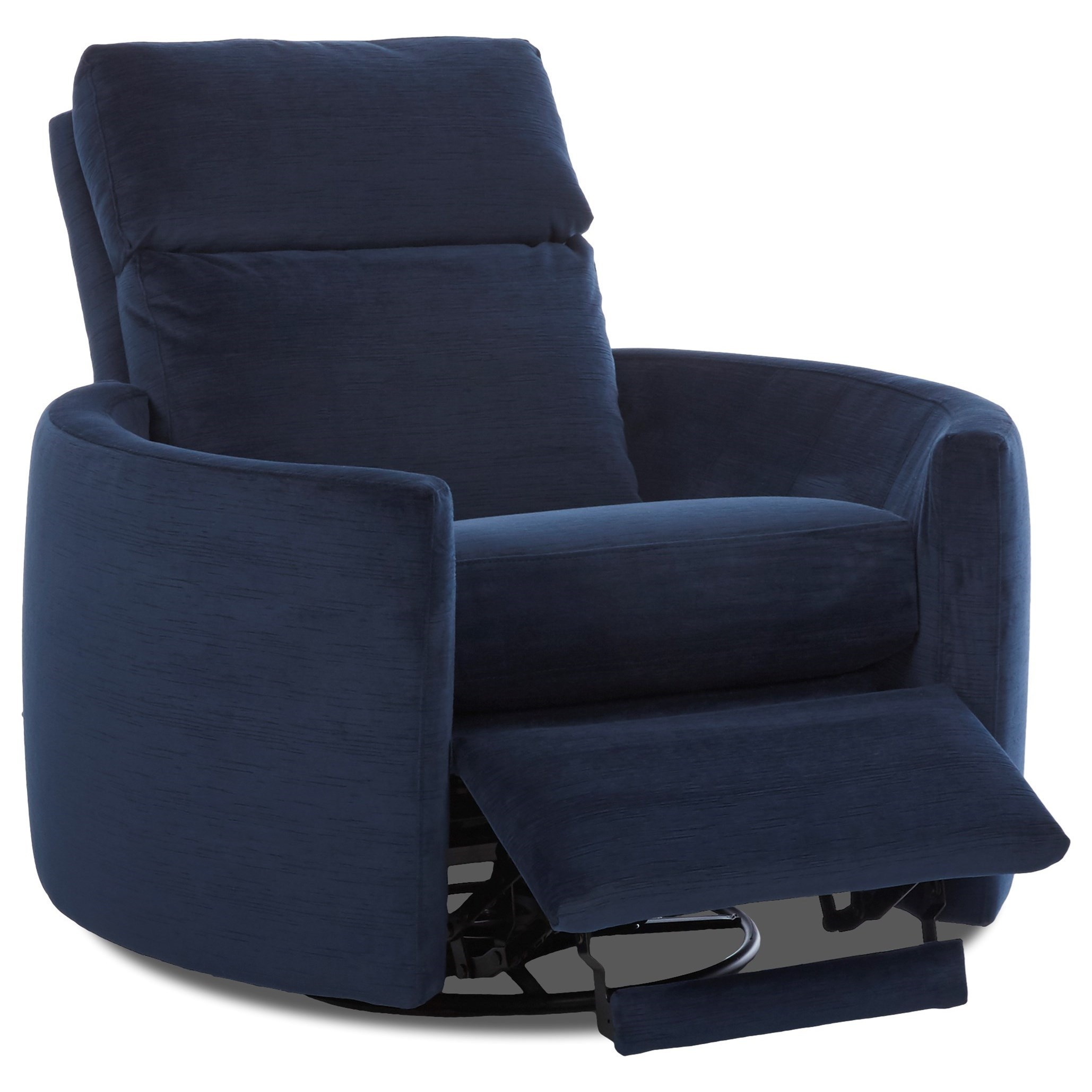 Chair Leather Reclining Swivel Klaussner Cosmo Contemporary Power Reclining Swivel Chair